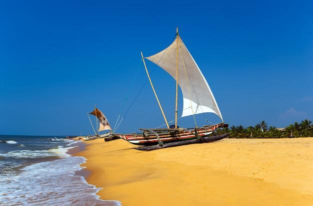 熱帯地方のスリランカの海岸