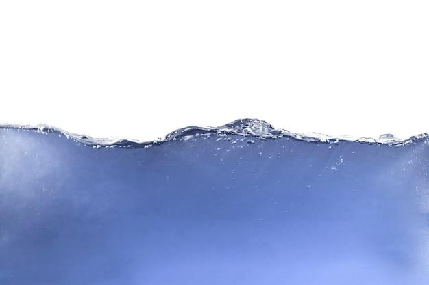 Ocean liquid water wave floating waterline isolated inderwater, fresh pure ecology