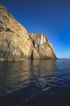 Ocean surrounded by the rocky cliffs