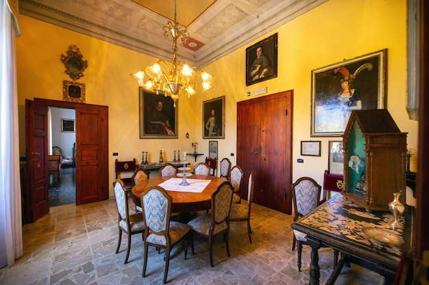 October 12, 2018.interior inside the villa graziani near the town of vada in the tuscan region.tuscany.italy.