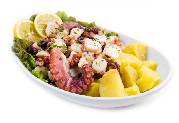 Octopus salad with potatoes