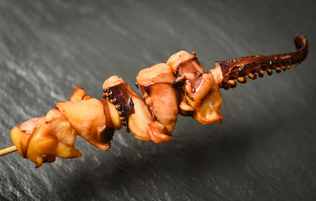 Octopus in skewer sticks
