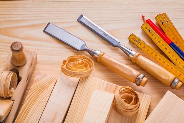 コンポジションod建具ツールノミ木工平面木製メーター鉛筆