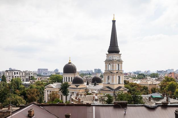 ウクライナ、ヨーロッパの救世主変容のオデッサ正教会
