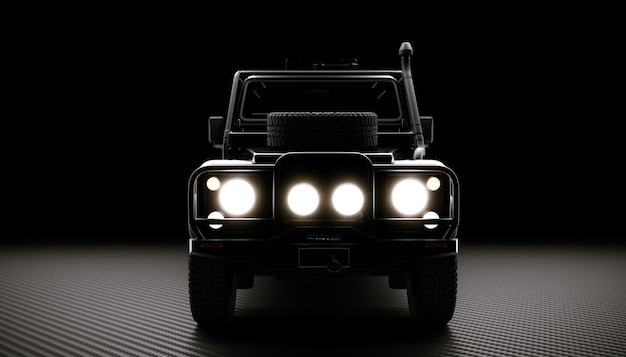 Off road car background