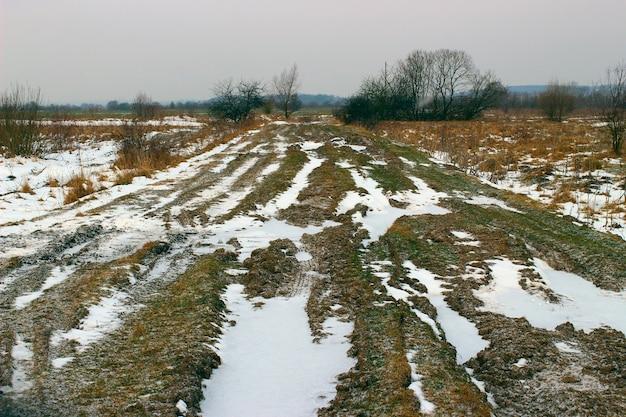 Off-road in winter
