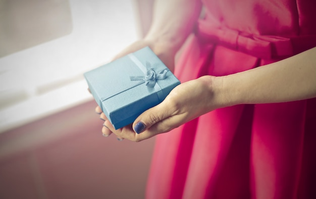 Offering a nice gift