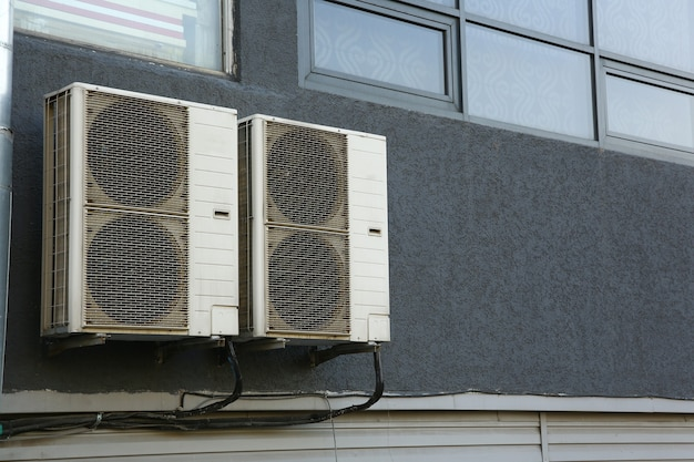 Office air conditioners for ventilation and air cooling or heating room