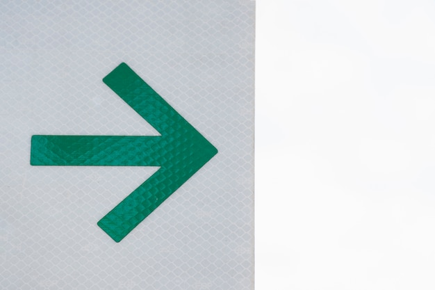 Office arrow on grey and white background