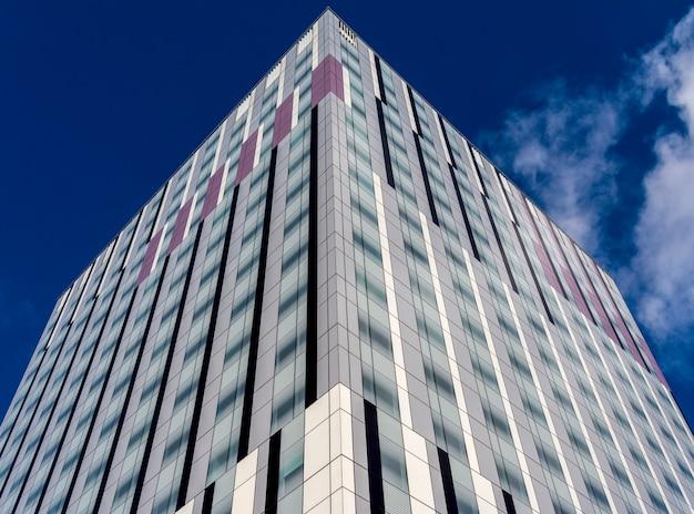 Office building on blue sky background