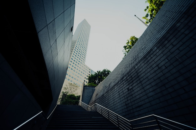 Office building eith stairs