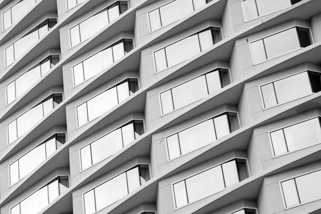 Office building windows background - monochrome