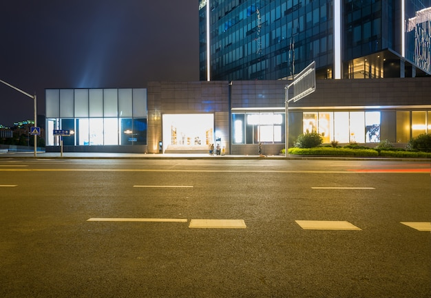 Office buildings and highways at night in the financial center, chongqing, china