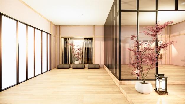 オフィスビジネス-美しいjapanroom会議室と会議用テーブル、モダンなスタイル。 3dレンダリング