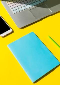 Office desktop with a paper sheet