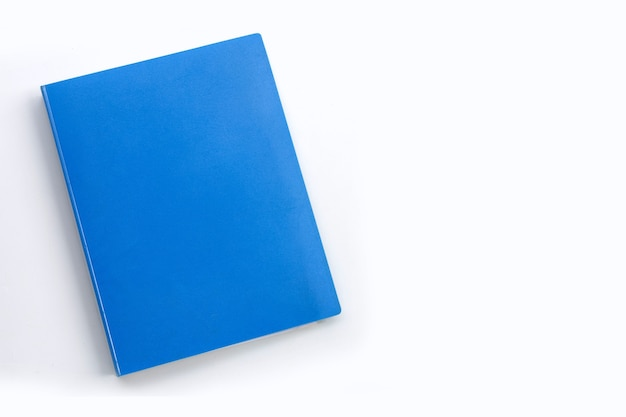 Office folder on white top view