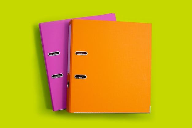 Office folders. top view