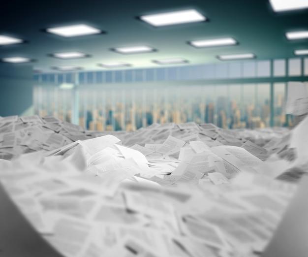 Офис полный бумаг