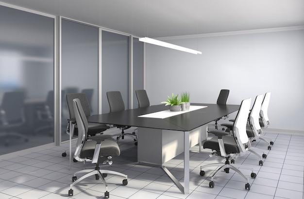 Офисный интерьер. 3d иллюстрация