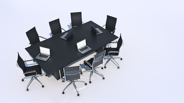 Офисная панорама 3d рендеринг