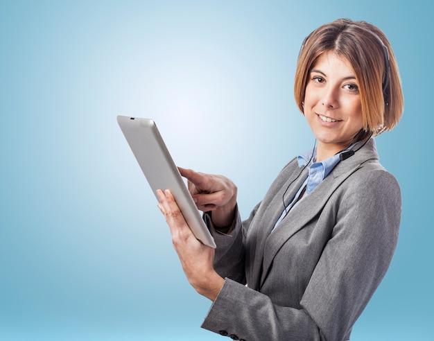 Ufficio telefono telemarketing femminile sicuro