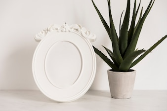 Office plant with frame