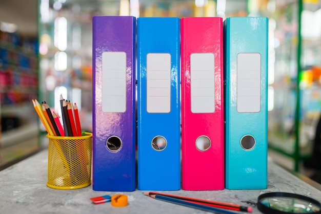Office supplies, stationery store concept