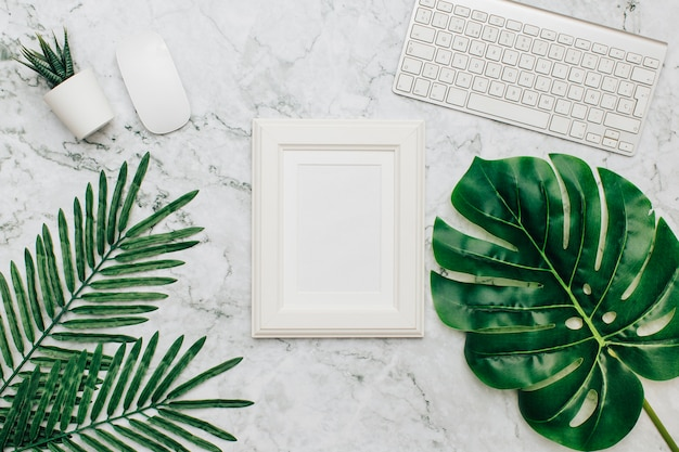 Office supplies with frame for text.
