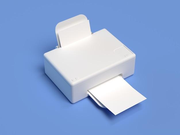 Office technology concept 3d rendering printer
