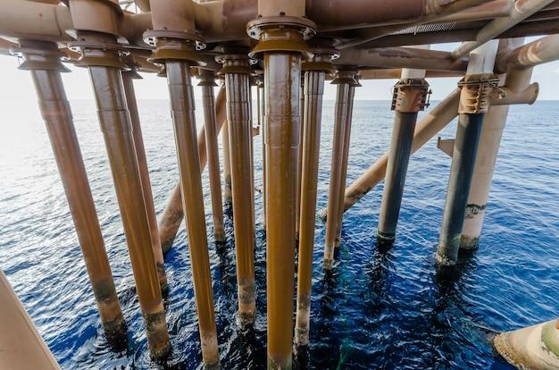 해양 산업 석유 및 가스 생산 석유 파이프 라인.