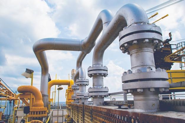 Нефтепровод для добычи нефти и газа в оффшорной индустрии