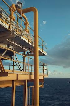 근해 산업 석유 및 가스 생산 석유 파이프라인.