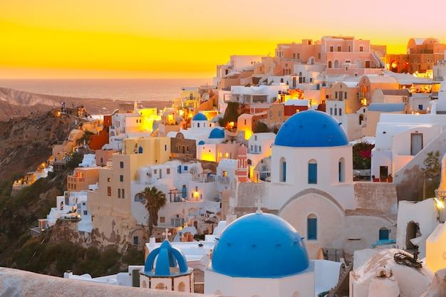 Ия на закате, санторини, греция