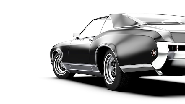 Oid generic black unbranded car isolated on white