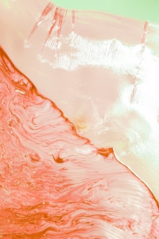Oil abstract of salmon water waves