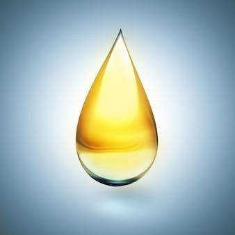 明るい背景に柔らかい影の油滴