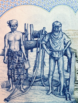 Oil field workers from burmese money