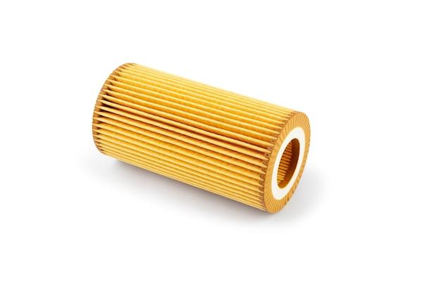 Масляный фильтр автомобиля на белом