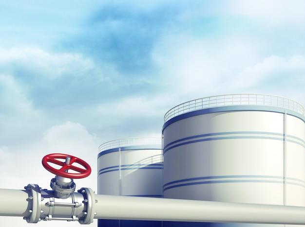 Oil industrial gas or oil storages