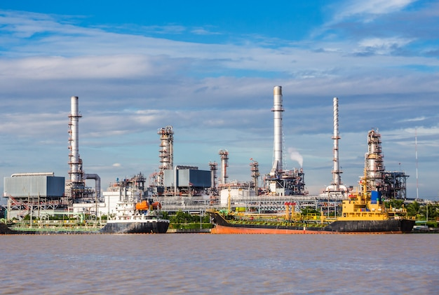 Oil industry refinery factory , petroleum, petrochemical plant.