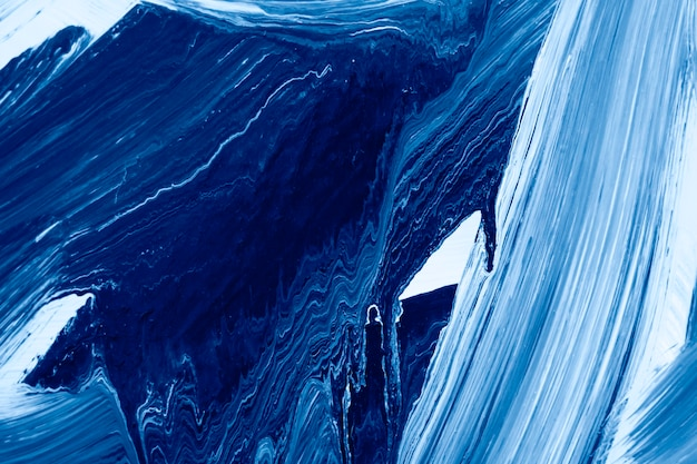 The oil paint blue texture on canvas. abstract art background. rough brushstrokes of paint. can be used as background.