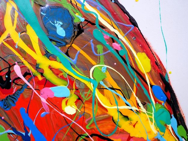 유성 페인트 다채로운 브러시 획 시작 드롭 달콤한 색상 추상 배경과 텍스처.