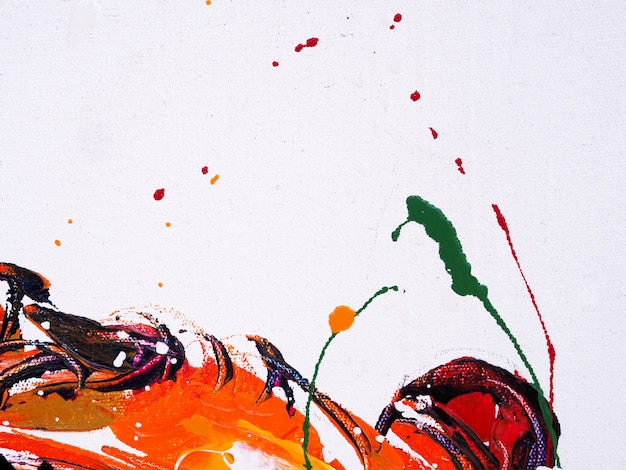 Oil paint colorful brush stroke splash drop sweet colors abstract background and texture.