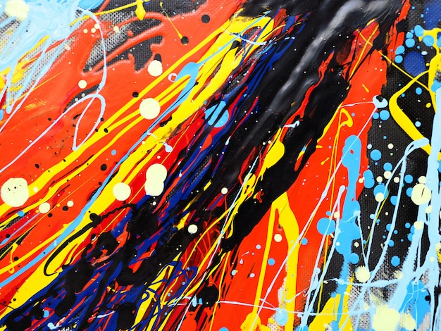 Oil paint colorful splash drop sweet colors abstract background and texture.