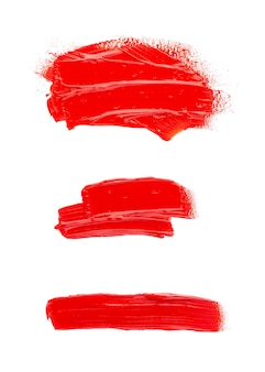 Oil paint spot isolated on white space. collection of abstract acrylic brush strokes.