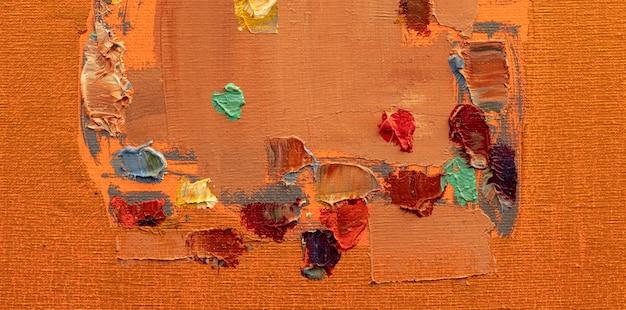 油絵抽象絵画のクローズアップカラフルな抽象絵画の背景