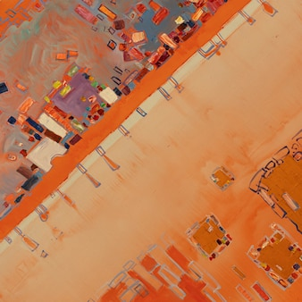 유화 추상 회화의 근접 촬영 다채로운 추상 회화 배경