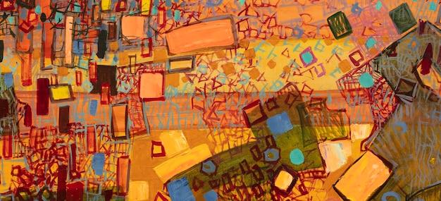 Абстрактная картина маслом крупный план картины красочный абстрактный фон картины