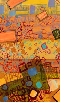 Oil painting abstract closeup of the painting colorful abstract painting background