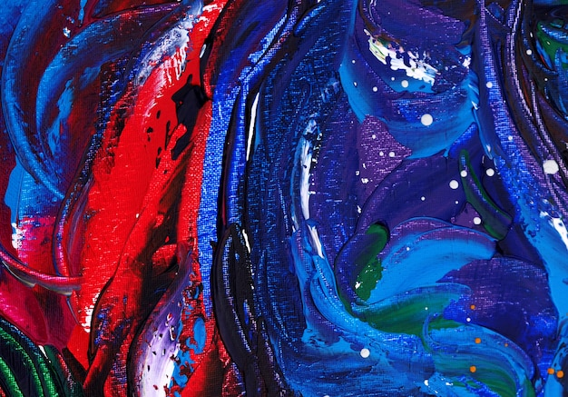Oil painting blue color abstract background on paper.